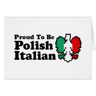 Italiano polaco tarjeta de felicitación