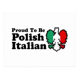 Italiano polaco tarjeta postal