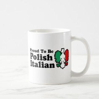 Italiano polaco taza