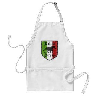Italiano por el delantal de Italia de la boda