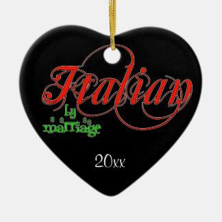 Italiano por el ornamento del recuerdo de la boda ornamentos de navidad