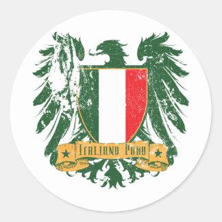 Italiano Puro Round Stickers