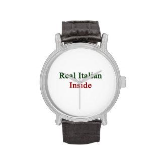Italiano real dentro reloj