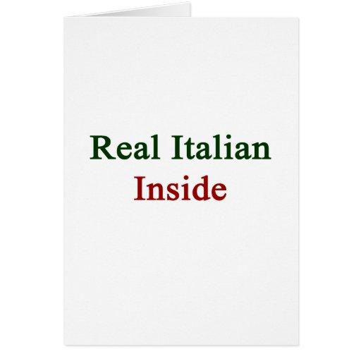 Italiano real dentro tarjeta pequeña