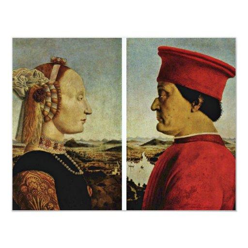 Italiano: Ritratto Di Federico Da Montefeltro, Bat 4.25x5.5 Paper Invitation Card