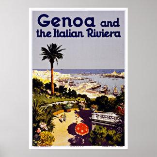 Italiano Riviera - posters de Génova del viaje del