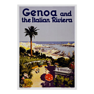 Italiano Riviera - posters de Génova del viaje del Póster