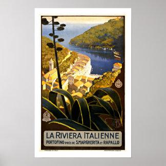 Italiano Riviera - posters del viaje del vintage Póster