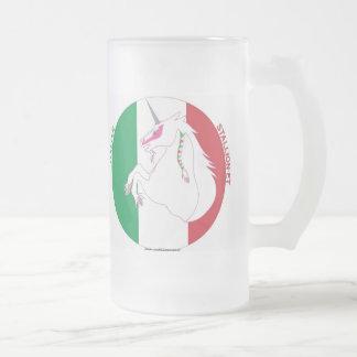 Italiano Semental-y taza de cerveza helada unicorn