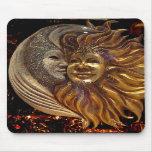 Italiano Sun y máscaras de Carnaval de la luna Alfombrillas De Raton