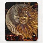 Italiano Sun y máscaras de Carnaval de la luna Alfombrilla De Ratón