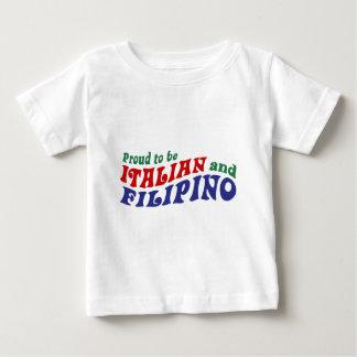 Italiano y filipino playera para bebé