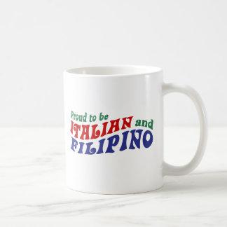 Italiano y filipino taza de café