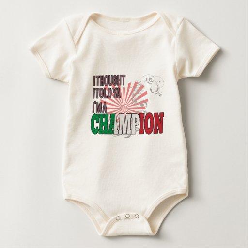 Italiano y un campeón traje de bebé