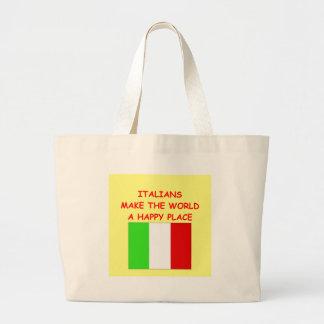 italianos bolsa tela grande