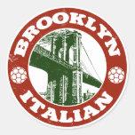 Italianos de Brooklyn Nueva York Pegatinas Redondas