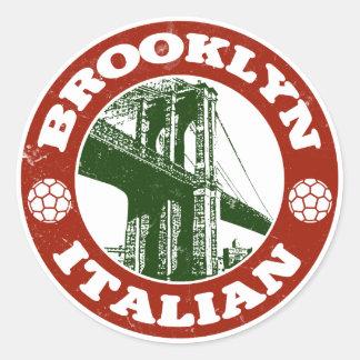 Italianos de Brooklyn Nueva York Pegatina Redonda
