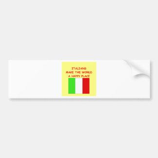 italianos pegatina para auto