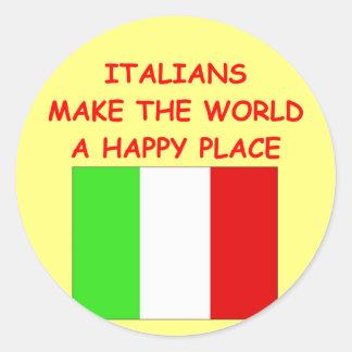 italianos pegatina redonda