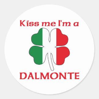 Italianos personalizada me besan que soy Dalmonte Pegatina Redonda