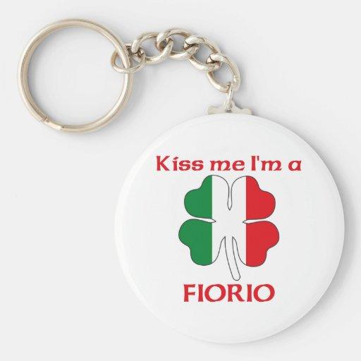 Italianos personalizada me besan que soy Fiorio Llavero Redondo Tipo Pin