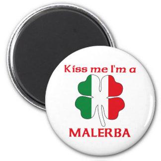 Italianos personalizada me besan que soy Malerba Imán Redondo 5 Cm