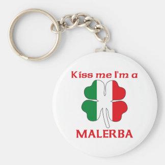 Italianos personalizada me besan que soy Malerba Llavero Redondo Tipo Pin