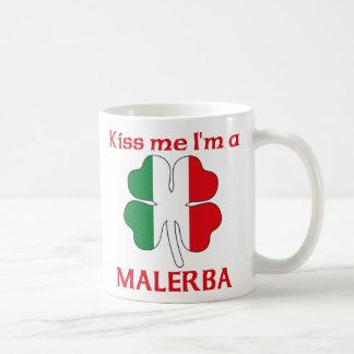 Italianos personalizada me besan que soy Malerba Taza Básica Blanca