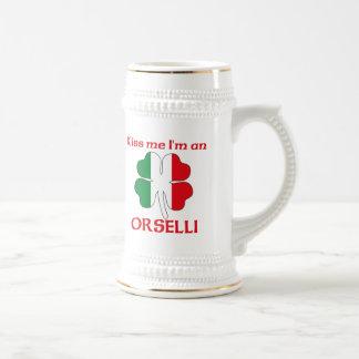 Italianos personalizada me besan que soy Orselli Jarra De Cerveza