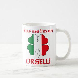 Italianos personalizada me besan que soy Orselli Taza Básica Blanca