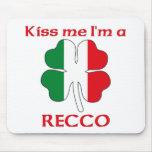 Italianos personalizada me besan que soy Recco Tapete De Ratones