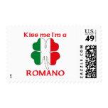 Italianos personalizada me besan que soy romano sellos postales
