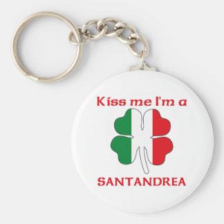 Italianos personalizada me besan que soy Santandre Llavero Redondo Tipo Pin