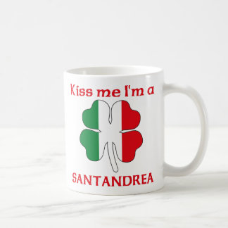 Italianos personalizada me besan que soy Santandre Taza Básica Blanca