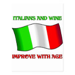 Italians And Wine, Improve With Age Postcard