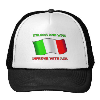 Italians And Wine, Improve With Age Trucker Hat