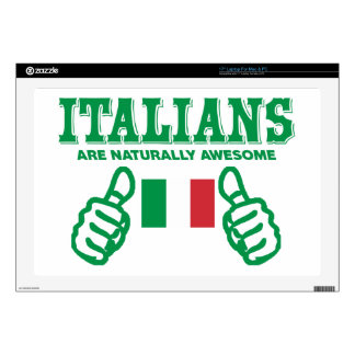 Italians are naturally awesome decals for laptops