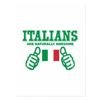 Italians are naturally awesome postcard