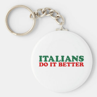 Italians Do it Better Basic Round Button Keychain