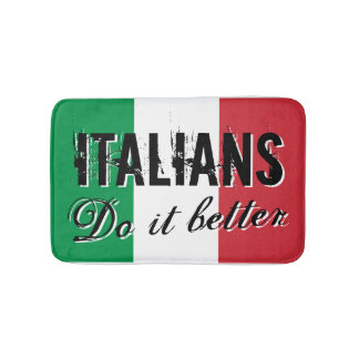 Italians do it better bath mat with flag of Italy