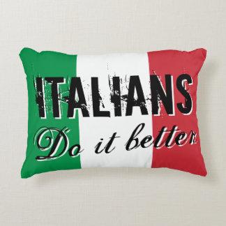 Italians do it better flag of Italy throw pillow