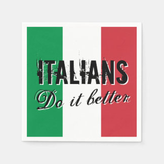 Italians do it better funny paper party napkins