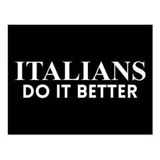 Italians do it better postcard