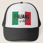 Italians do it better vintage flag trucker hat