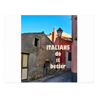 Italians DO it more better Postcard