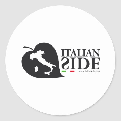 italianside pegatina redonda