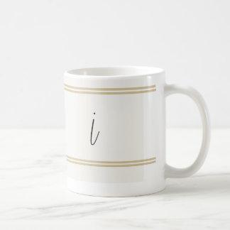 ¡Itálico del amor de I… I……… monogramed las tazas! Taza Clásica