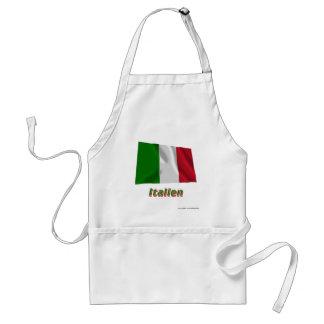 Italien Fliegende Flagge mit Namen Aprons