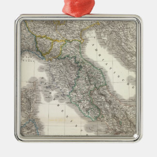 Italien - Italy Square Metal Christmas Ornament