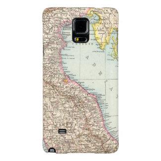 Italien nordliche Halfte, Map of North Italy Galaxy Note 4 Case